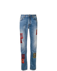 Marcelo Burlon County of Milan Straight Leg Patch Jeans