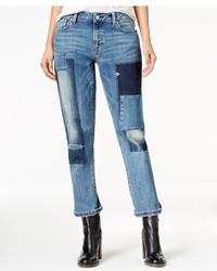 Tommy Hilfiger Rena Patchwork Wash Boyfriend Jeans Only At Macys