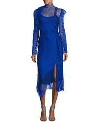 3.1 Phillip Lim Long Sleeve Lace Patchwork Midi Dress