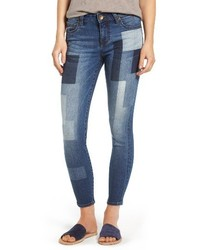 KUT from the Kloth Patchwork Fade Skinny Jeans