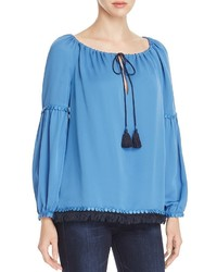 Sylvie silk peasant blouse medium 806102