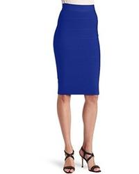 BCBGMAXAZRIA Leger Bandage Mid Length Pencil Skirt