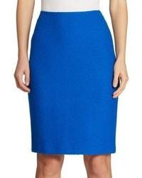 St. John Clair Knit Wool Pencil Skirt