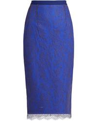 Emilio De La Morena Ellen Lace Overlay Pencil Skirt