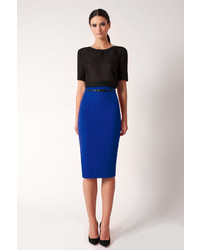 Black Halo High Waist Pencil Skirt Online
