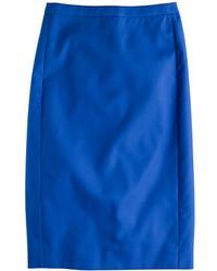 J.Crew No 2 Pencil Skirt In Cotton Twill