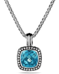 David Yurman Albion Pendant With Hampton Blue Topaz Diamonds