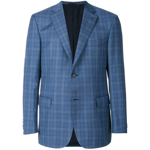 5123467a5 Men's Fashion › Jackets › Blazers › farfetch.com › Brioni › Blue Plaid  Blazers Brioni Plaid Blazer ...