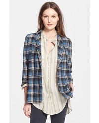 The undone plaid boyfriend jacket medium 173621