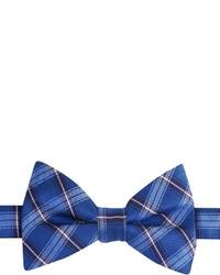 Izod Recess Plaid Self Tie Bow Tie