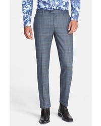 Blue Plaid Dress Pants for Men | Men's Fashion