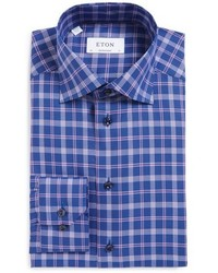 Blue Plaid Dress Shirt
