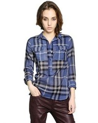 Burberry Checked Cotton Voile Shirt