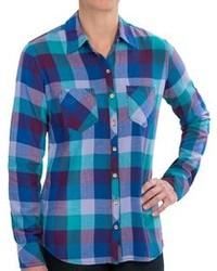Dickies Herringbone Plaid Flannel Shirt Cotton Long Sleeve