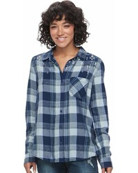 Mudd Juniors Plaid Flannel Shirt