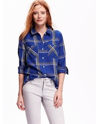 Old Navy Classic Plaid Flannel Shirt