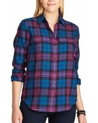 Chaps Plaid Twill Button Down Shirt
