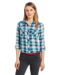Relaxed western plaid shirt medium 87615