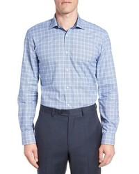 Royaltt trim fit plaid dress shirt medium 8762417