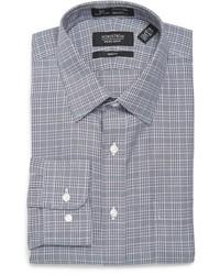 Shop smartcare trim fit plaid dress shirt medium 963020