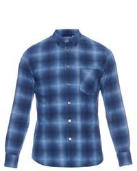 Blue Blue Japan Flannel Overprinted Shirt