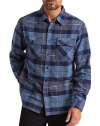 Brixton Bowery Plaid Flannel Button Up Shirt