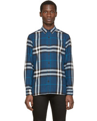 Burberry Brit Blue Check Flannel Shirt
