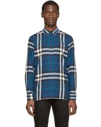 Blue Plaid Burberry Shirt