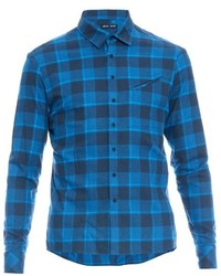 Baja East Checked Cotton Flannel Shirt