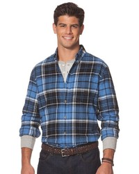 Chaps Classic Fit Plaid Flannel Button Down Shirt