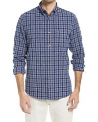 Nordstrom Men's Shop Fit Stretch Check Flannel Shirt