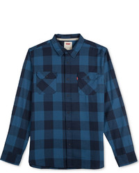 Levi's Fleame Plaid Flannel Long Sleeve Shirt
