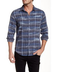 Calvin Klein Long Sleeve Distressed Flannel Shirt