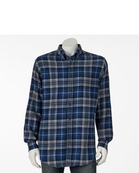 croft & barrow Plaid Flannel Casual Button Down Shirt