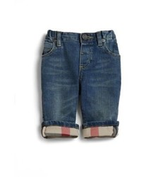 Burberry Babys Check Lined Jeans