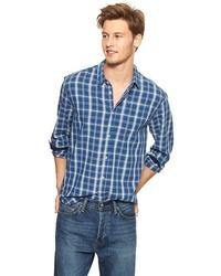 Gap 1969 Plaid Long Sleeve Utility Shirt