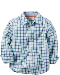 Carter's Carters Long Sleeve Plaid Woven Shirt Preschool Boys 4 7