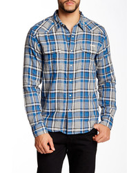 Lucky Brand Classic Western Plaid Long Sleeve California Fit Shirt Shirt