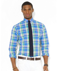 Polo Ralph Lauren Custom Fit Plaid Poplin Shirt