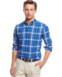 Tommy Hilfiger Dock Plaid Custom Fit Shirt