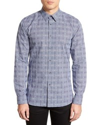 Hugo Boss Elisha Slim Fit Check Sport Shirt