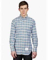 Thom Browne Gingham Cotton Oxford Shirt