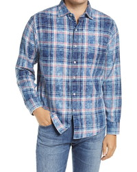Tommy Bahama Indigo Beach Plaid Button Up Shirt