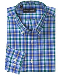Kenneth Gordon Multi Check Shirt Long Sleeve