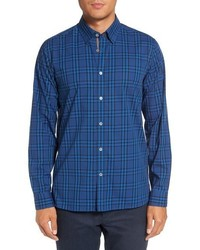 London murcia extra slim fit plaid cotton sport shirt medium 801044