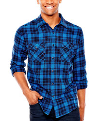 Arizona Long Sleeve Flannel Button Front Shirt