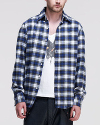 Michael Bastian Michl Bastian Plaid Flannel Long Sleeve Shirt Multi