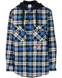 Marcelo Burlon County of Milan Monogram Check Shirt Style Hoodie