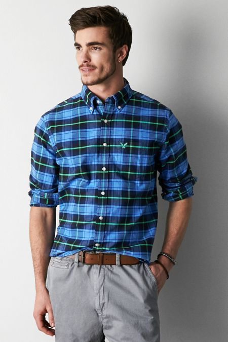 American Eagle Outfitters Plaid Button Down Shirt | Where to buy ...