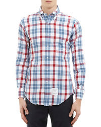 Thom Browne Plaid Button Down Shirt